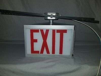 Double Sided Lighted Exit Sign