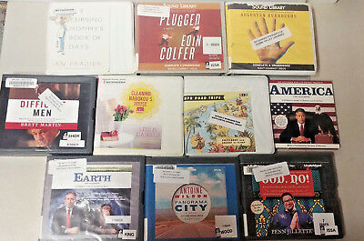 Humor/ Comedy Audio Books Lot of 10 on CD FREE SHIPPING Unabridged A-14