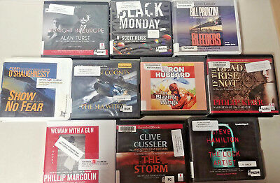 Mystery Thriller Audio Books Lot of 10 on CD FREE SHIPPING Unabridged A-23