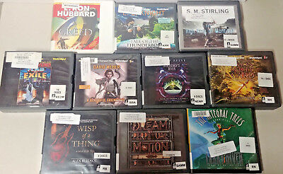 Science Fiction/sci-fi Audio Books Lot of 10 on CD FREE SHIPPING Unabridged A-31