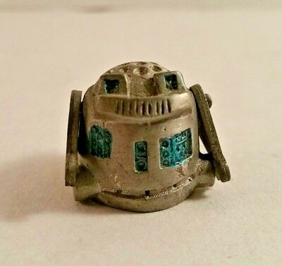 Pewter Thimble Robot with Moving Arms Made in England PLEASE READ Vintage