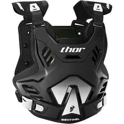 Thor MX Kids NEW Sentinel GP Roost Chest Protector Black White Youth Body Armour