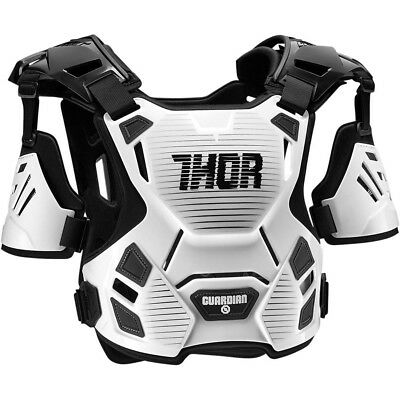 Thor MX NEW Guardian Chest Protector White Black Motocross Body Armour - M/L