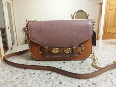 high fashion elegant shoes perfect quality AUTHENTIC COACH~$350 BLAKE Crossbody 20 in Colorblock F30554 DUSTY  ROSE/ORANGE