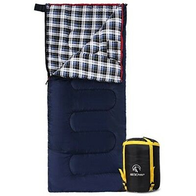 REDCAMP Cotton Flannel Sleeping bags for Camping, 41F/5C 3-4 season Warm and Com
