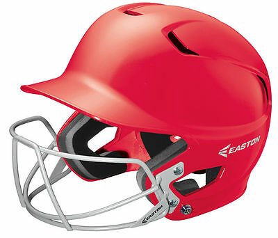Easton Z5 Massiv Senior Baseball Schlagmann Helm Rot mit Bbsb Maske & Chip Band