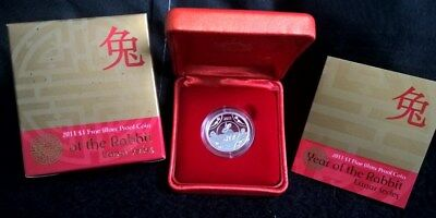 2011 One Dollar Silver Proof - *year Of The Rabbit - Lunar Series* -  Silver