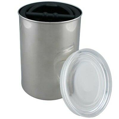 Pantry Organizer 64 oz Brushed Stainless Steel Coffee Food Storage Canister Jar