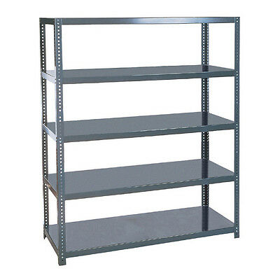 5-Tier Industrial Steel Storage Shelving Large Freestanding Commercial Rack Unit