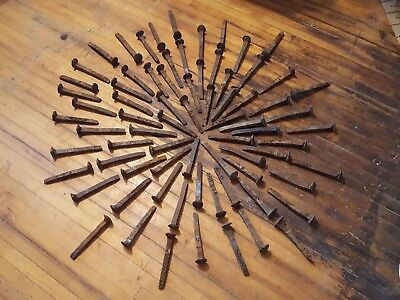 "75 Vintage Railroad Spikes Antique Blacksmith Train Track RR 6.5"" Exact LOT"