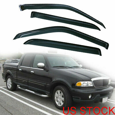 4-Pieces  Vent Window Visor Shade Visors for 02-03 Lincoln Blackwood/Ford F-150