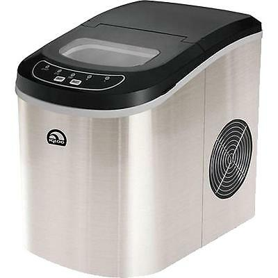 Stainless Steel Ice Maker Portable Machine Home Compact Countertop  Freestanding