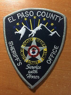 Patch Police Sheriff El Paso County Colorado State