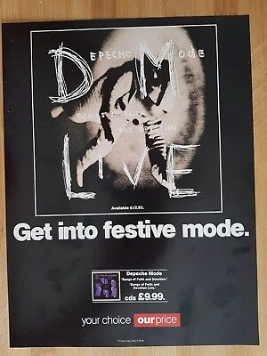 depeche mode magazine print ad for album songs of faith and devotion