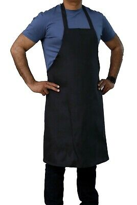 Black Economy Full Length Cotton Bib Apron 30 X 34