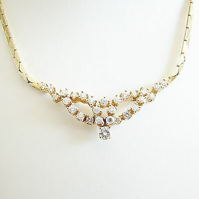 Collier Gold 585er Brillanten 0,79 ct. Halskette 14 kt. Goldkette Diamanten
