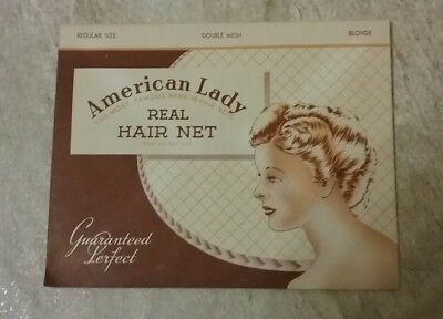 Vintage American Lady Real Hair Net  NOS lot of 18