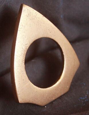 "2""x2.5"" Vintage NOS Antique SOLID Bronze Door Cylinder Mortise Key Hole Plate"