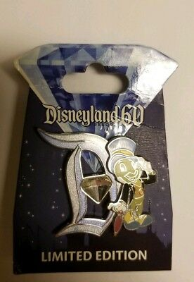 Jiminy Cricket LE 60th Anniversary Pin Letter Release
