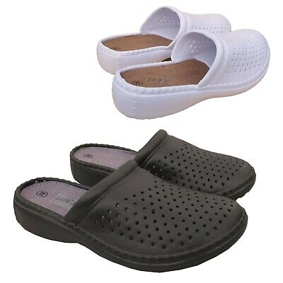 Ladies Garden Kitchen Casual Hospital Work Clogs Shoes Slip On Mules 3 4 5 6 7 8