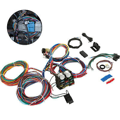 Universal Wire 12 Circuit Wiring Harness For Chevy Ford Street Hot Rod