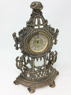 Small West German Vintage Rococo Style Manual Carriage Clock H23.5 x W16 cms