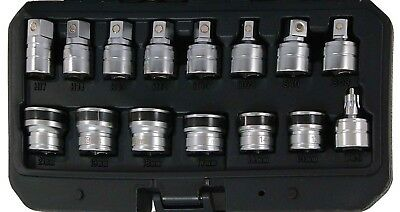 Trident Tools 15 Piece 3/8in Dr Magnetic Oil Drain Plug Key & Socket Set T342500