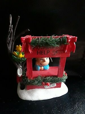Dept 56 Peanuts Figurine Lucy Is In With Woodstock Psychiatric Help Christmas