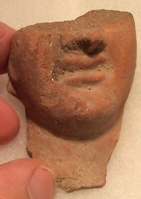 EARLY Ancient Ptolemic Egypt Terra-cotta 1/2 Head of KING PTOLEMY I 300-200BC