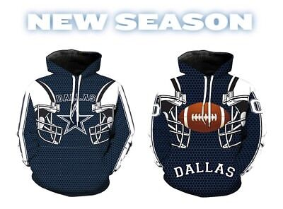 NEW Dallas Cowboys NFL Sport Hoodie Sweatshirt Hooded Jumper Jacket Coat HOT XL