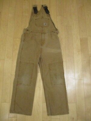 Carhartt Double Knee Overalls Youth Large 14