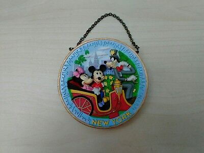Pre-owned Walt Disney World New York Souvenir Round Hanging Ornament