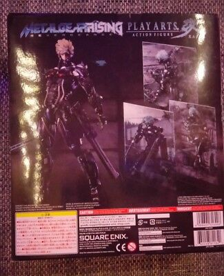 Metal Gear Rising Revengeance Raiden Play Arts Kai Figur schwarze Version