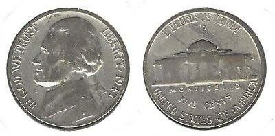 US 1942-P Jefferson Nickel 35% Silver.....Nice Coin !!!