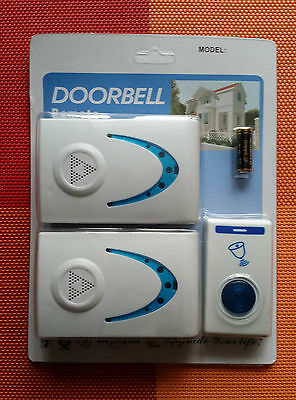 Wireless/Cordless Double Doorbell With Remote Control 100M 32 Melodies Chime