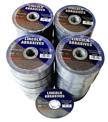 """500 Pack 4-1/2"""" 1/16"""" Cut-off Wheel 4.5 Cutting Discs Stainless Steel & Metal"""