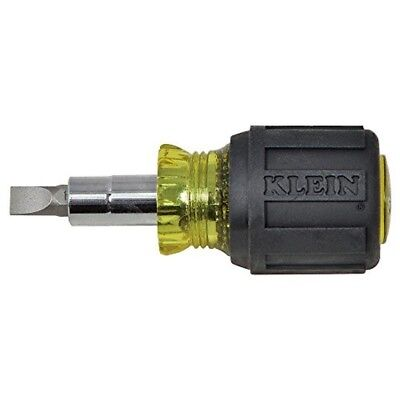 Klein Tools Stubby Multi-Bit Screwdriver / Nut Driver Small Short Hand Tool New