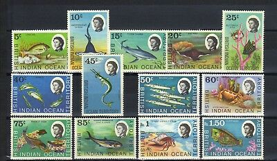 1968 Qe11 British Indian Ocean T'ty Part Set Of 13 Mint Def. Stamps To R1.50