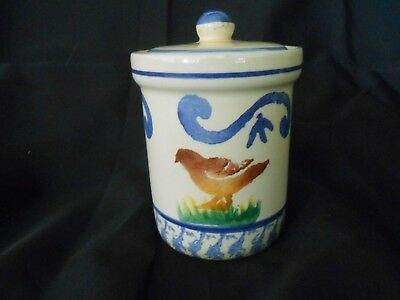 Bizzirri Italian Pottery Hand Painted Chicken - Rooster Covered Jar