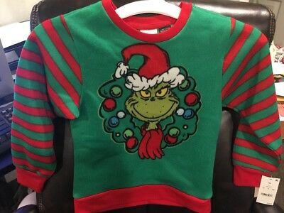 Brand New DR SEUSS THE GRINCH Christmas Holiday Ugly Knit Sweater XS Boy Girl