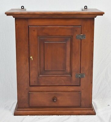 Eldred Wheeler Cherry Hanging Cabinet 18th Century Williamsburg Style