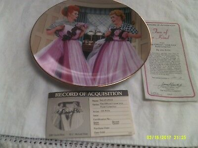 Hamilton Collection I Love Lucy Collector Plate-Two of a Kind