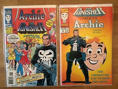 Archie Meets the Punisher #1 SET OF BOTH (Marvel Comics) 1994 / Betty Veronica