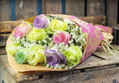 Fresh Flower Delivery Unicorn Roses Bouquet Free Gift Message Fresh Roses