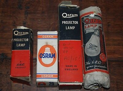 Collection of Vintage Osram Projector Bulbs