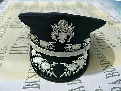 New USAF Chief of Staff Airforce General Officers Parade Dress Visor Hat Cap