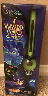 Mighty Wizard Wand Clawtor the Mighty Blue Dragon Green Control the Magic NEW