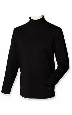 Womens Turtle Neck Polo Neck Long Sleeve Stretch Top Black Jumper Size UK 8-18