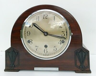 Kenilworth Walnut Westminster Chiming Mantle Clock