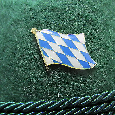 Bavarian Flag Oktoberfest Hat Pin